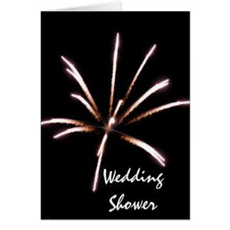Fireworks Wedding Shower Invitation Greeting Card