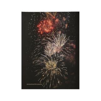 Fireworks Wood Poster