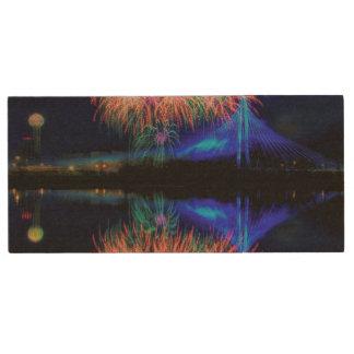 Fireworks Wood USB Flash Drive