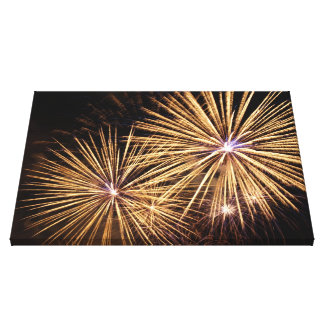 Fireworks Wrapped Canvas Print
