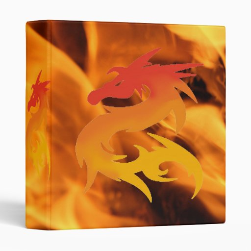 Firey Celtic Dragon 3 Ring Binders