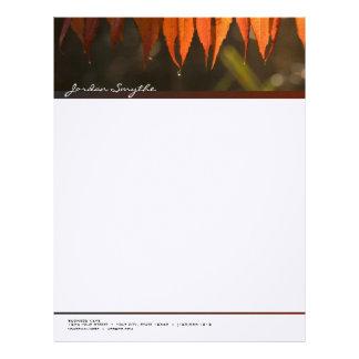 Firey Leaves Letterhead
