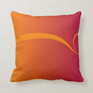 Firey Orange and Red Swirl Throw Cushion Pillow