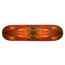 firey red patterned board