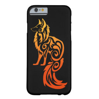 Firey Red Tribal Fox Kitsune Barely There iPhone 6 Case