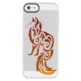 Firey Red Tribal Fox Kitsune Uncommon Clearly™ Deflector iPhone 5 Case