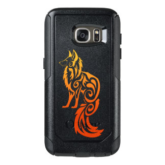 Firey Red Tribal Fox Kitsune OtterBox Samsung Galaxy S7 Case
