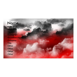 Firey sky angry clouds business card