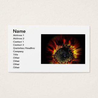 Firey Sunflower Business Card