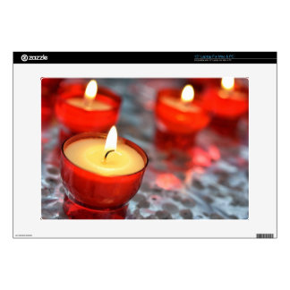 """firing candles in red glasses 15"""" laptop decal"""