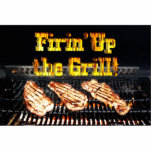 Firing up the Grill! BBQ Steaks Acrylic Cut Out