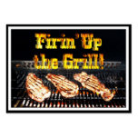 Firing up the Grill! BBQ Steaks Business Cards
