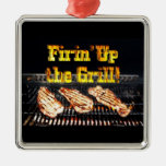 Firing up the Grill! BBQ Steaks Christmas Tree Ornament