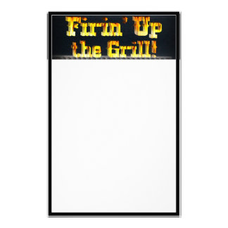 Firing up the Grill! Customized Stationery