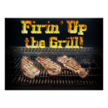 Firing up the Grill! Print
