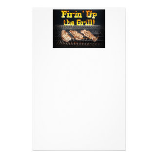 Firing up the Grill! Stationery
