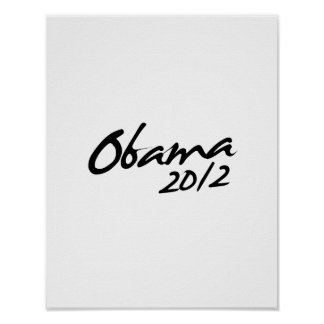 FIRMA 2012 DE OBAMA - .PNG POSTERS