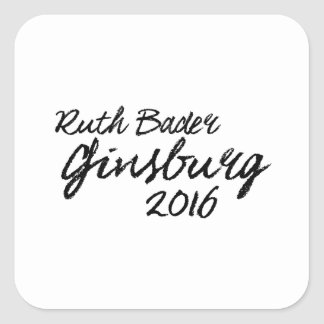 Firma 2016 de Ruth Bader Ginsburg Pegatina Cuadrada