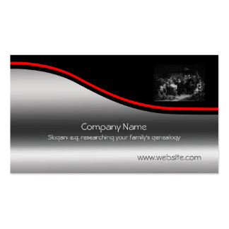 Firma compacta del peregrino, Swoosh rojo, metal-e Plantilla De Tarjeta Personal