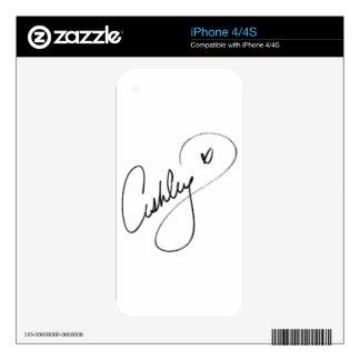 Firma de Ashley iPhone 4S Calcomanías