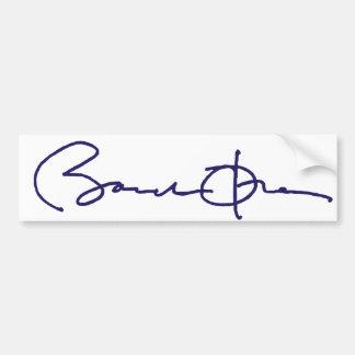 Firma de Barack Obama Pegatina Para Auto