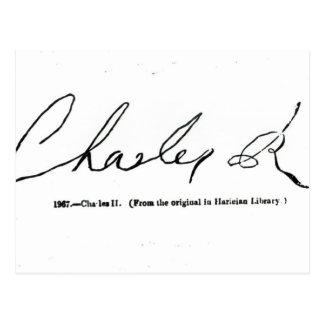 Firma de Charles II Postal