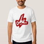 Firma de Che Guevara - rojo en blanco Camisas