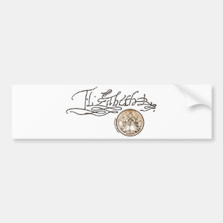 Firma de Elizabeth I (versión 1) Etiqueta De Parachoque
