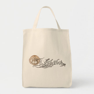 Firma de Elizabeth I (versión 2) Bolsa Tela Para La Compra