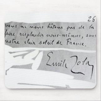 Firma de Emile Zola Alfombrillas De Ratones