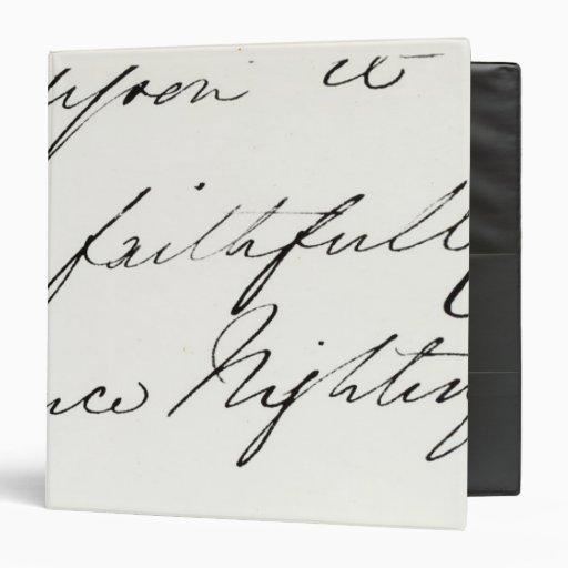 """Firma de Florence Nightingale Carpeta 1 1/2"""""""