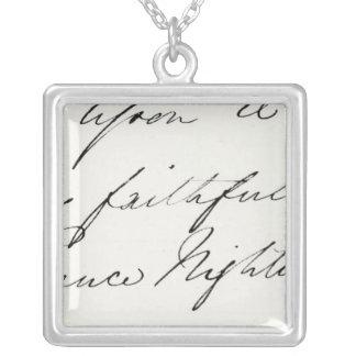 Firma de Florence Nightingale Colgante Cuadrado