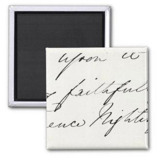 Firma de Florence Nightingale Imán