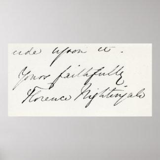 Firma de Florence Nightingale Poster