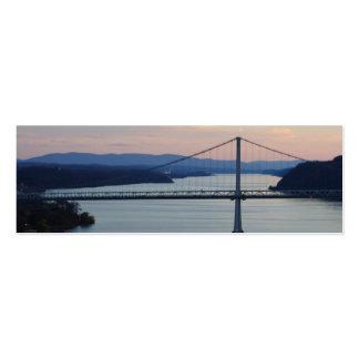 Firma de Geocache de la puesta del sol del puente/ Plantilla De Tarjeta De Visita