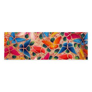 Firma de Geocache de las mariposas/tarjeta de visi Plantilla De Tarjeta De Visita