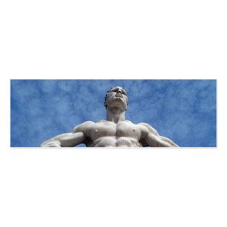 Firma de Geocache del boxeador/tarjeta de visita o