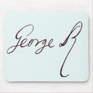 Firma de George II Alfombrillas De Raton