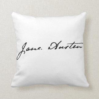 Firma de Jane Austen de doble cara Cojín