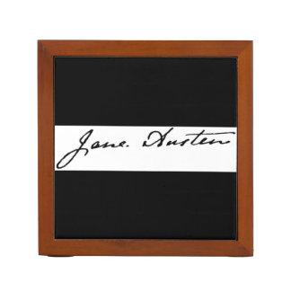 Firma de Jane Austen de doble cara Organizador De Escritorio