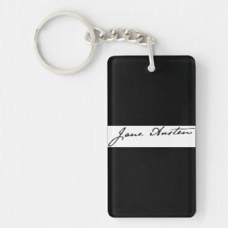 Firma de Jane Austen Llavero Rectangular Acrílico A Doble Cara