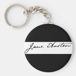 Firma de Jane Austen Llavero Redondo Tipo Pin