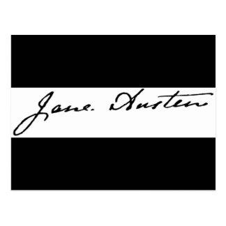 Firma de Jane Austen Postales
