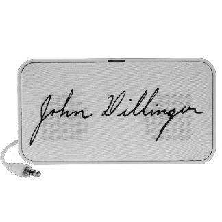 Firma de John Dillinger proscrito notorio Altavoz