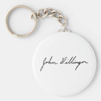 Firma de John Dillinger proscrito notorio Llaveros Personalizados