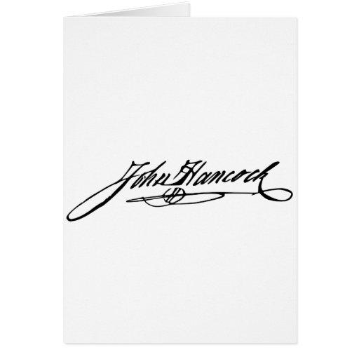 Firma de Juan Hancock Felicitacion