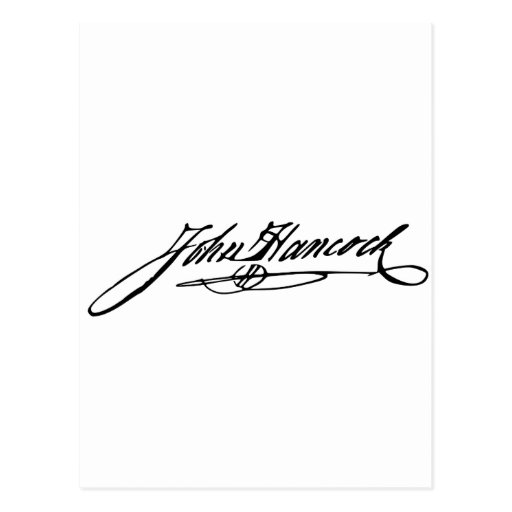 Firma de Juan Hancock Tarjeta Postal