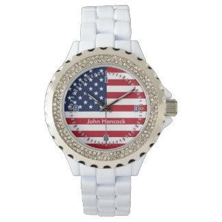 Firma de la bandera americana relojes