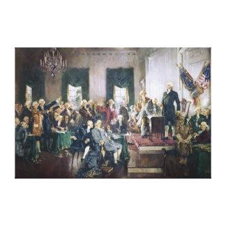 Firma de la constitución de Howard C. Christy Impresión En Tela
