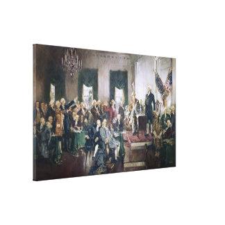 Firma de la constitución de Howard C. Christy Lienzo Envuelto Para Galerias